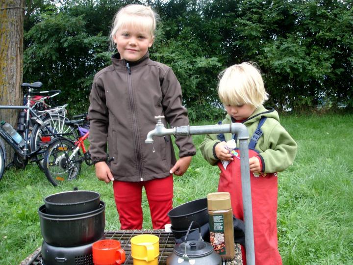 Cykeltur. Opvask. Cykeltur med børn. Donau - Alle Ud
