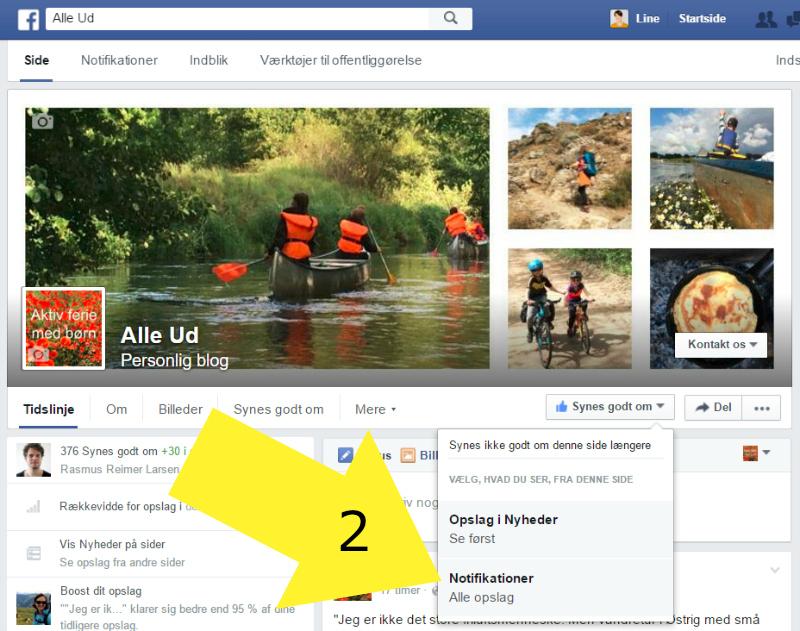 A - 2 - MED PIL Facebook Alleud - vælg notifikationer - MED PUL