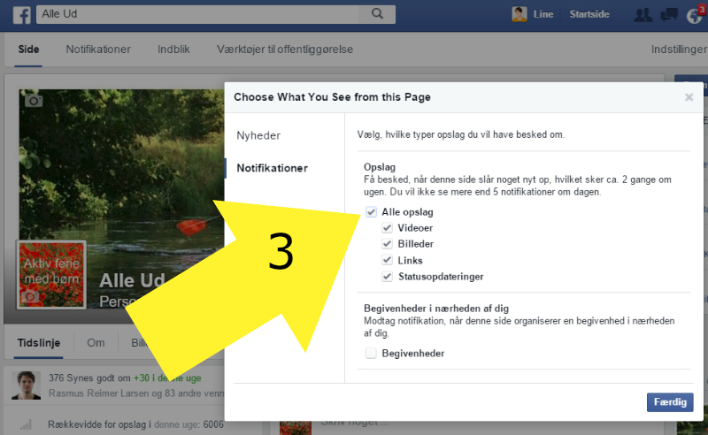 A - 3 - Facebook Alleud - visning af notifikationspop up - 3 MED PIL