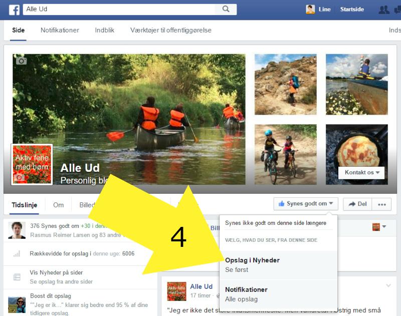 A - 4 - Facebook Alleud - vælg opslag i nyheder- MED PIL