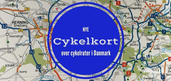 Cykelkort over Danmark - nye kort fra 2016
