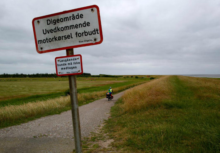 720 The North Sea Cycle Route - Eurovelo 12 - follows private farm roads and dyke roads all the way down he coast