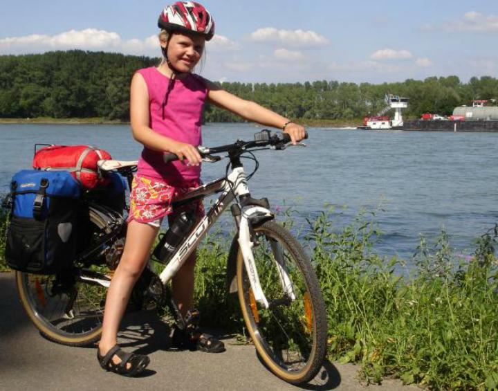 Cykeltur børn cykel bagage Rhinen Donau - Alle Ud