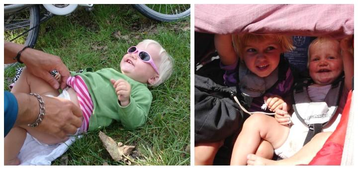 Med blebørnpå cykeltur - babyer i cykelanhænger - Alle Ud