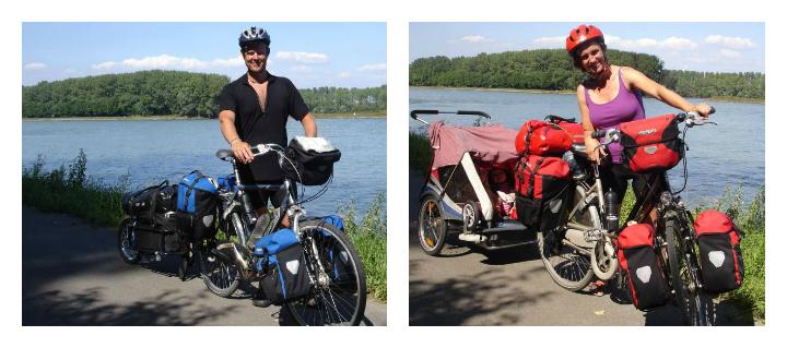 Danny og Lotte Møller med cykler og oppakning - Alle Ud