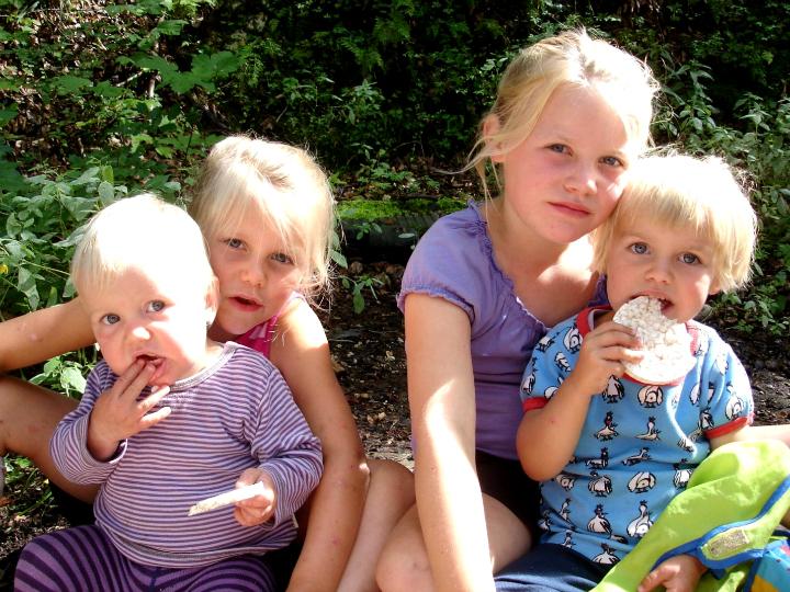 Familien Møllers fire døtre: Maren, Ida, Alma og Agnes