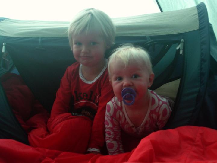 Pop-up-seng Cykeltur med blebørn Telt med børn