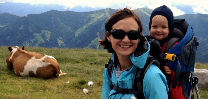 Vandring Østrig Saalbach små børn - nemt - vandreferie familie