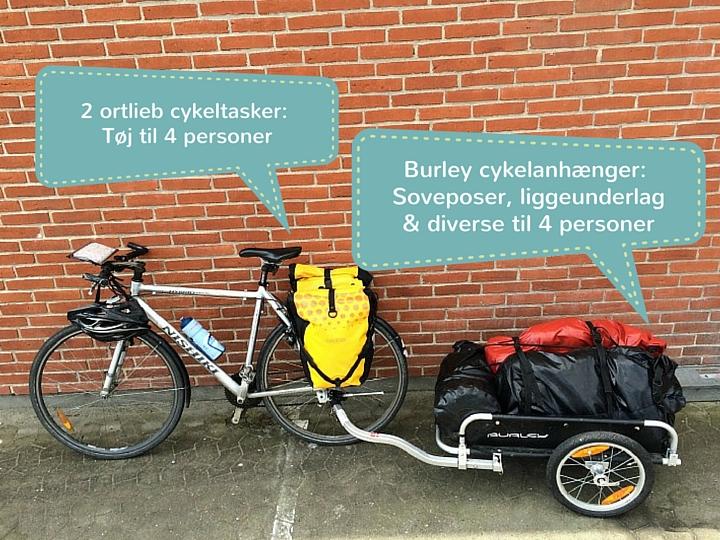 Cykelbagage - foto 1 med tekst