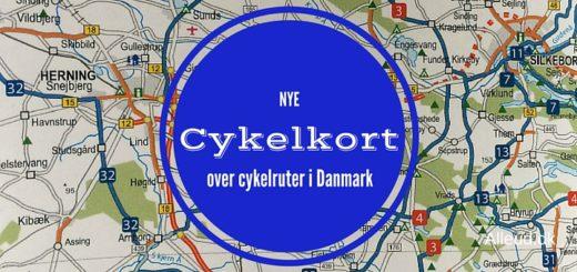 Cykelkort Danmark - nye kort 2017