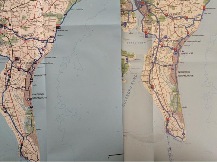 Cykelkort Danmark - Sammenligning af kort fra Legin og Scanmaps