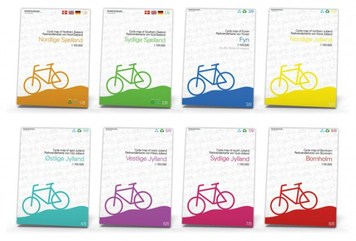 Cykelkort Danmark Regionale kort cykelruter nationale cykelruter