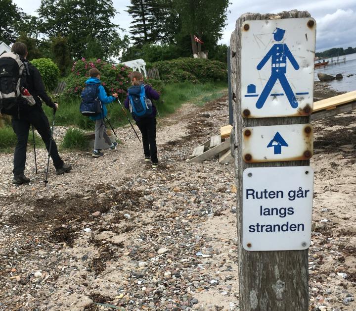 Gendarmsti Vandring vandretur Børn Sønderhav