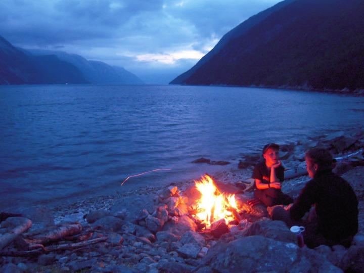 Lysefjorden Vandring kajak børn familie
