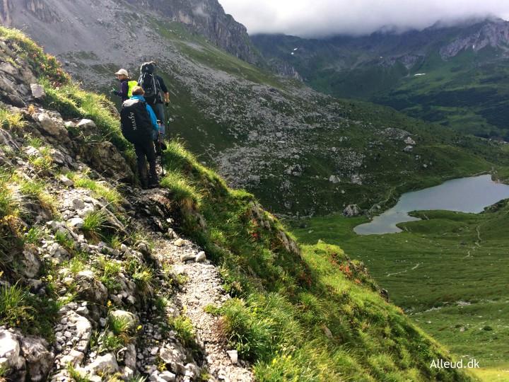 Bjergvandring vandring med børn