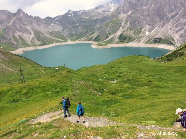Lünersee Rätikon Vandring med børn vandretur Østrig