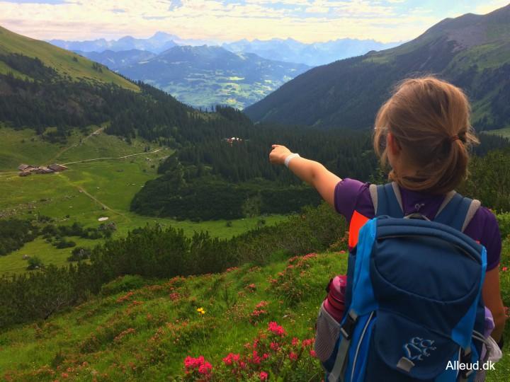 Vandring Lindauer Hytte familie østrig rätikon vandretur