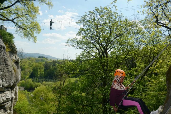 Rappelling High Rope Tjekkiet Aktiv Ferie