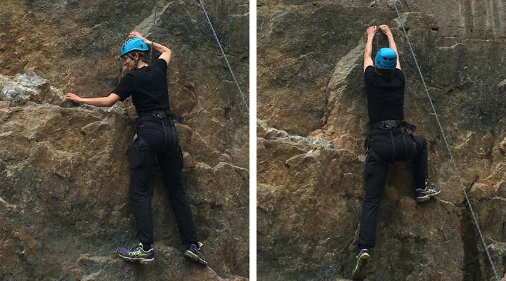 Klippeklatring Topreb klatring Bornholm outdoorcenter vang granitbrud