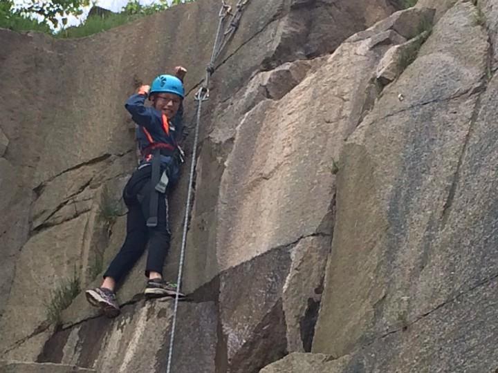 bornholm klippeklatring børn klatring familie