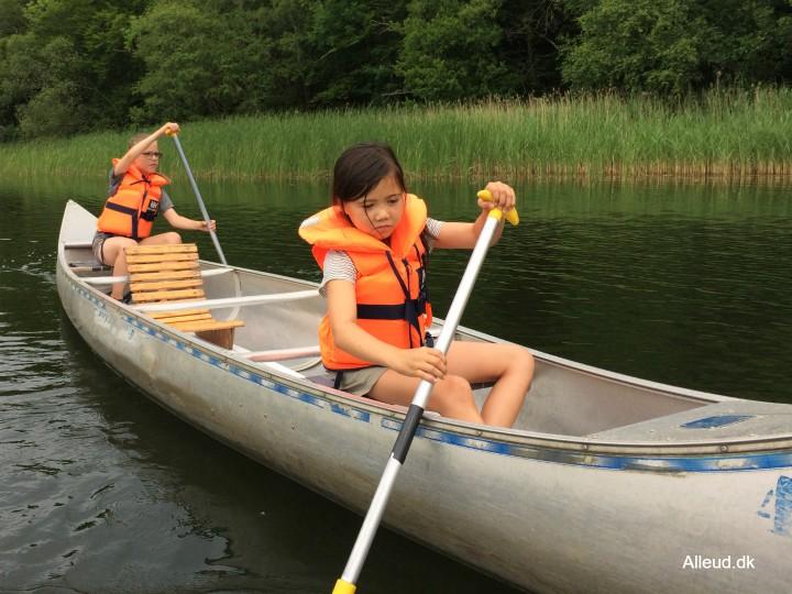 Kano kanotur Silkeborg Brillerne Anvsø Barn Familie