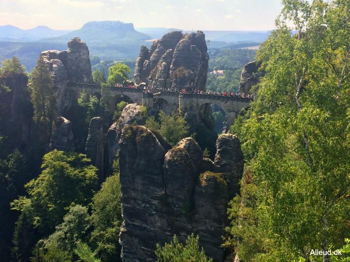 Bastei Baseibridge Tyskland Elbe Radweg