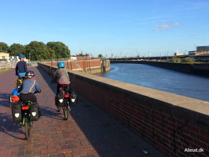 Hamborg Cykelferie cykelrute Elben