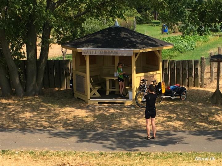 Rasteplads cykelrute cykelferie Elben