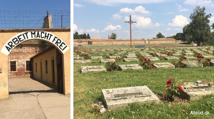 Theresienstadt Terezín Koncentrationslejr Tjekkiet Elben seværdighed børn