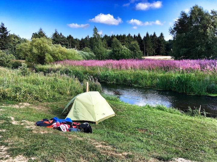 Uggerby aa kano kanotur mosbjerg naturlejrplads