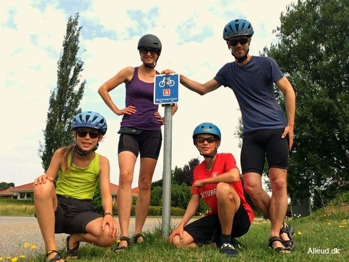 Cykeltur familie Østersøruten Nationalrute 8 børn