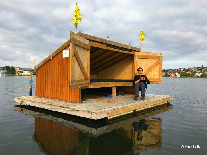 Flydende shelter Mariagerfjord