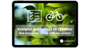 Pakkeliste cykeltur børn familie cykelferie