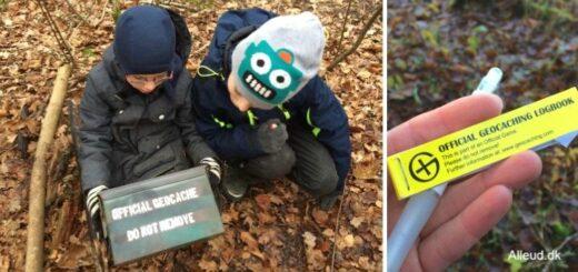 Geocaching familie aktivitet børn barn første cache guide