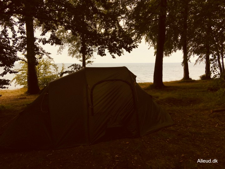 Teltplads Østersøruten Overnatning telt cykeltur familie nationalrute 8