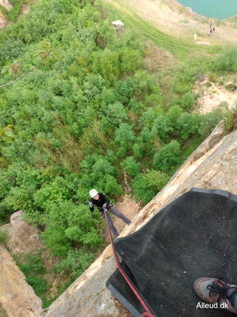 Klatring Rappelling rappelle granitklipper opalsøen bornholm