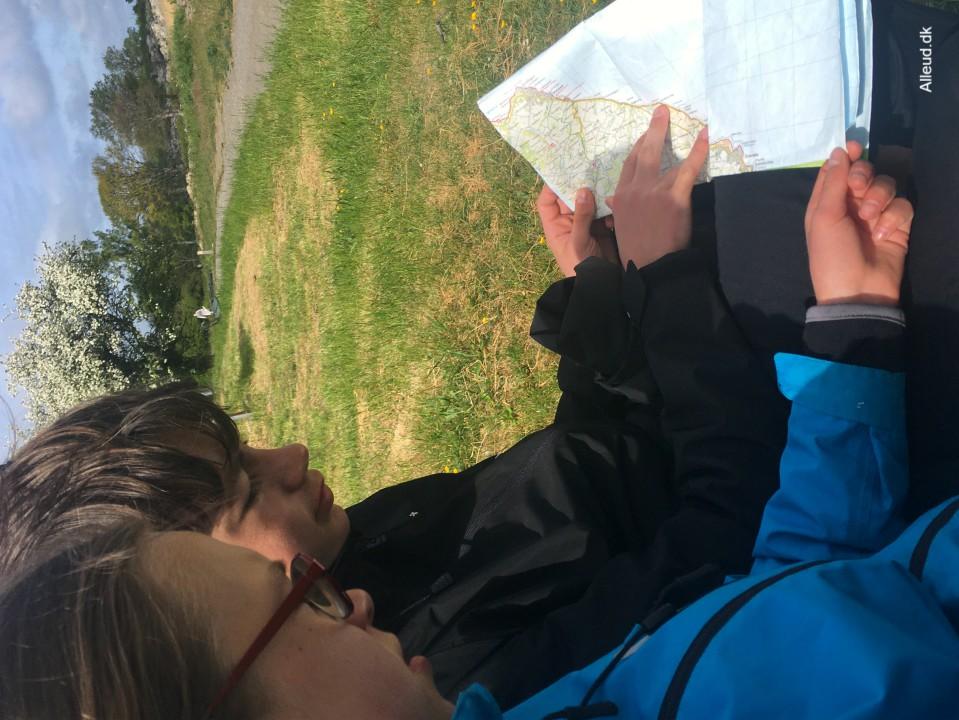 vandrekort Bornholm vandretur Kyststi
