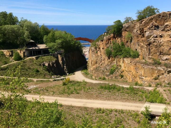 Vang granitbrud vandring vandretur vandrerute