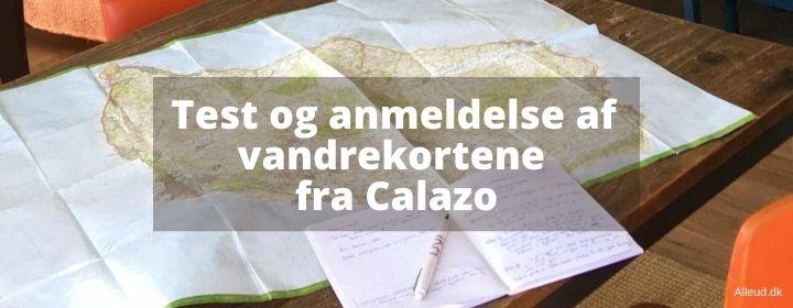 Vandrekort Danmark vandring anmeldelse test Calazo