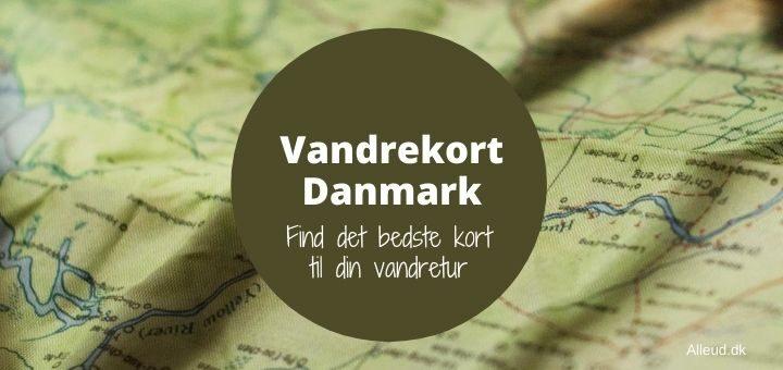 Vandrekort Danmark vandretur kort calazo friluftskort outdoorkort