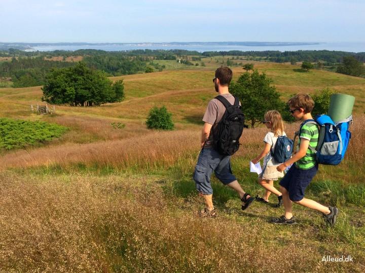 Vandring Agri Bavnehøj Mols Bjerge  børn familie