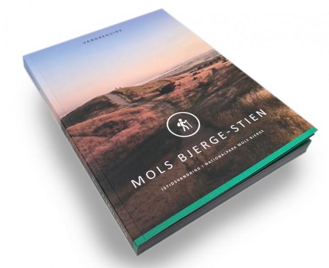 Mols Bjerge Stien Bog Guidebog med kort